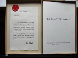 AF. Lot. 366. Le Psautier Mosan. Club Du Livre Philippe Lebaud, Editeur - History