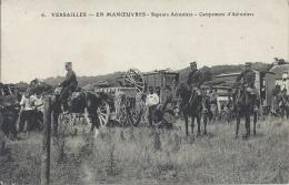 MILITARIA - VERSAILLES - En Manoeuvres - Sapeurs Aérostiers - Campement D'Aérostiers - Equipment