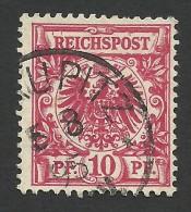 Germany, 10 Pf. 1889, Sc # 48, Mi # 47, Used, Biskupitz. - Gebraucht