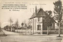 72 - La Flêche - ** Le Pavillon Canadien - Pub - Cuisne & Pâtisserie Française A. ODIAU ** - Cpa En Bon état - La Fleche