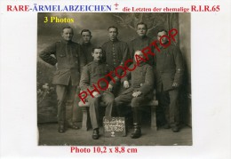 Rare-�RMELABZEICHEN-Die letzte der ehemalige R.I.R.65-Kassenverwaltung-3x Photos Allemandes-Guerre 14-18-1 WK-Militaria-