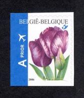 Belg. 2006 - COB N° 3549c ** - Tulipe Rembrandt Du Carnet 66 - Non Dentelé à Gauche Et En Bas - Nuovi