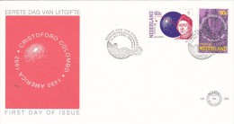 Netherlands 1992 Discovery Of America 500th Anniversary FDC - FDC