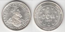 **** BELGIQUE - BELGIUM - BELGIE - 5 ECUS 1987 30th ANNIVERSARY TREATIES OF ROME - ARGENT - SILVER *** EN ACHAT IMMEDIAT - 12. Ecus
