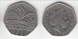 **** GRANDE-BRETAGNE - GREAT-BRITAIN - 50 PENCE 2000 PUBLIC LIBRARY *** EN ACHAT IMMEDIAT !!! - 1971-… : Monnaies Décimales