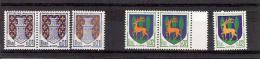 FRANCE 1962/1965 Lot De 6 Timbres N** YT 1351A Et 1351B NIORT Et GUERET -CERF - 2 Isolés Et 2 Paires / DIVISIBLE SUR DEM - France