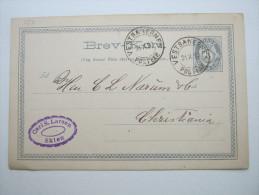1897 , VESTBANERNES    , Klarer Stempel Auf Karte - Norwegen