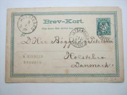 1887 ,  VESTBANERNES     , Klarer Stempel Auf Karte - Norwegen