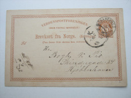 1884 ,  VESTBANERNES     , Klarer Stempel Auf Karte - Norwegen