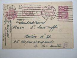 1923,  Ganzsache Aus Riga  Nach Deutschland - Lettland