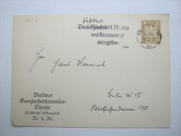 1927, Privatganzsache Aus Berlin, Rs. Viel Text - Ganzsachen