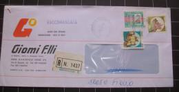 """Italia 1993 Busta Raccomandata """" Castelli +alti Valori £.3000 """" - 6. 1946-.. Repubblica"""
