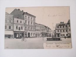 AK 1907 Österreich / Tschechien / Sudeten.Jägerndorf. Partie Am Franz Josephs-Platz. Hotel Reichsadler. Reinicke & Rubin - Sudeten