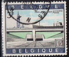 PIA - BEL - 1969 : Tunnel J.F.Kennedy Ad Anversa  - (Yv1514 ) - Used Stamps
