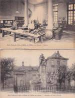 Chalons - Ecole Arts & Métiers - ENSAM - 2 Cartes : Cuisine & Monuments - Gad´zarts - 1921 - Châlons-sur-Marne