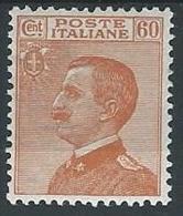 1926 REGNO EFFIGIE 60 CENT MH * - T76-3 - 1900-44 Vittorio Emanuele III