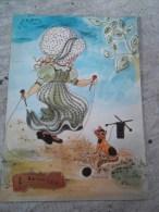 Carte De Ste  Catherine Representant  Une  Petite Fille  Sautant A  La Corde - Saisons & Fêtes