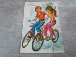 Carte De Ste Catherine Representant Un Couple  A Vélo - Saisons & Fêtes