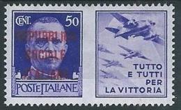 1944 RSI PROPAGANDA DI GUERRA 50 CENT MH * - T82-3 - Propaganda Di Guerra