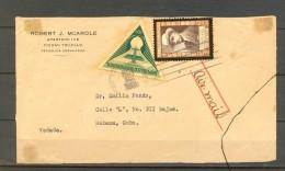 1939 REPÚBLICA DOMINICANA, FRONTAL DE SOBRE CIRCULADO A LA HABANA, CORREO AÉREO - Dominican Republic