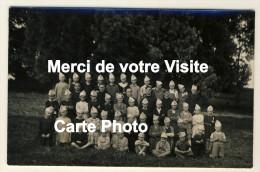 Eslettes - Carte Photo - Colonie De Vacances Marie Thérèse -  Colons Avec Coiffe à Pompons,Séminaristes - Année 1937 - Altri Comuni