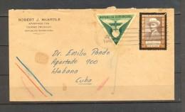 1940 REPÚBLICA DOMINICANA, SOBRE CIRCULADO ENTRE CIUDAD TRUJILLO Y LA HABANA, CORREO AÉREO - Dominican Republic