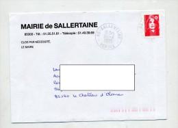 Lettre Cachet Sallertaine  Entete Mairie - Marcophilie (Lettres)