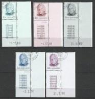 "Monaco YT 1705 à 1707 1722 1723 "" Effigie Du Prince Rainier III "" 1990 1er Jour BDF Daté - Monaco"