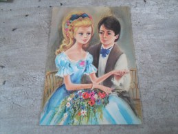 Carte   Representant Un Jeune Homme  Et Une Jeune Fille - Saisons & Fêtes