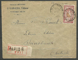 LETTRE RC DIRECT INNSBRUCK AUTRICHE AVEC MERSON  N° 121  TB - Postmark Collection (Covers)
