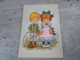 Carte   Representant Un Petit Garçon Et Une Petite Fille - Saisons & Fêtes