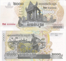 Cambodia - 2000 Riels 2007 UNC Ukr-OP - Cambodia