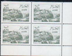 Algérie-bloc De Quatre Neuf  (Yv: 995)-1991 Vues D'Algérie - Algérie (1962-...)