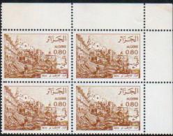 Algérie-bloc De Quatre Neuf  (Yv: 759)-1982-Vues D'Algérie - Algeria (1962-...)