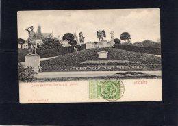 51479    Belgio,  Jardin  Botanique, Terrasse Des  Statues,  Bruxelles,  VG  1907 - Foreste, Parchi, Giardini