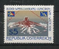 Championnats Du Monde De Canoë à Vienne 1991.  Un T-p Neuf ** D'AUTRICHE. - Canoa