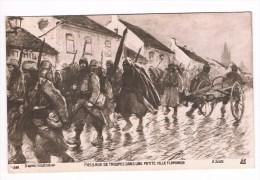 27682 Passage De Troupes Dan Une Petite Ville Flamende - G Scott - 2 Scans - War 1914-18