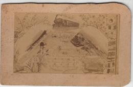 """COREE : Photographie Ancienne : """"8 Mai 1902"""" : """"Souvenir De La Cérémonie D´Inauguration Des Travaux Du Chemin De Fer De - Trains"""