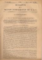 """Document Militaire - Bulletin De La Section D´Information Du G.Q.G - """"La Démobilisation"""" - Historical Documents"""