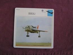 SHORT SC 1    Chasseur  FICHE AVION Avec Description  Aircraft Aviation - Avions