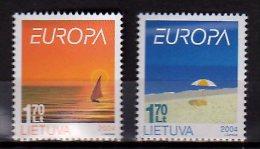 CEPT 2004 -Lithuania / Litauen -2v -  Paper - MNH** - Europa-CEPT