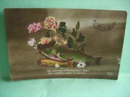 Poisson D' Avril MAPS Postcard Postkarte Cartolina Postale - 1er Avril - Poisson D'avril