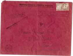 """LPU7 -  DUVAL 1f PAIRE HORIZONTALE SUR LETTRE """"INSPECTION DIVISIONNAIRE DU TRAVAIL"""" SEPTEMBRE 1942 - 1859-1955 Lettres & Documents"""