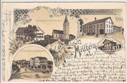 MÜLLHEIM GRUSS-DOS UNIQUE- 20.07.1898- RARE CARTE NUM 2583 DU CATALOGUE KÄPPELI - TG Thurgovie