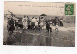 Dept 33,Gironde,Cpa Montalivet Les Bains,Départ De La Pinasse Pour La Pêche - France
