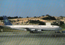 * SKYJET BRASIL - B707-331C Postcard - 1946-....: Modern Era
