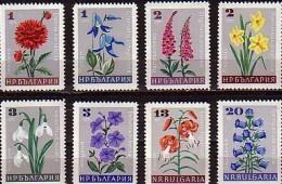 BULGARIA \ BULGARIE - 1967 - Flowers - 8v - MNH - Bulgarie