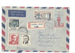 11702 - Recommandé De Oldrichov V Hajich Pour Zürich 30.10.1963 - Lettres & Documents