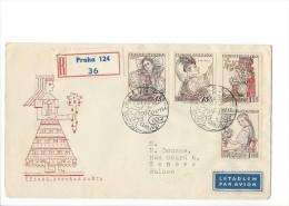 11703 - FDC Recommandé Praha Pour Genève 18.12.1957 - FDC