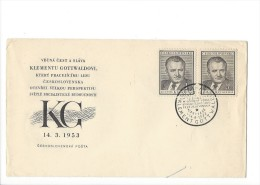 11704 - FDC Klementu Gottwaldovi KG 14.03.1953 - FDC